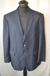 Vintage Marks & Spencer navy blue classic blazer jacket size large 44