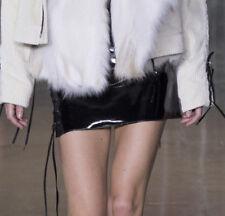 ANTHONY VACCARELLO shiny black patent vinyl pvc lace-up mini skirt 40-F/8-US NEW