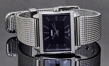 Reloj Casio Damas Cuadrado de Moda con Cadena de malla de acero LTP1334BD Reino Unido Vendedor