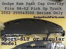 Dodge Ram Plastic Molded Dash Cap Overlay  98-01 Sport Ram P/U Slate Black