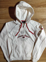 11b677d1f Champion Vintage Womens Hoodie Tracksuit Top Jacket Hooded Aerobic Dance  White