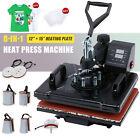 360 Swing-Away Press 8-in-1 T Shirt Heat Press Machine w 12x15in Heat Pad More