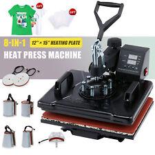360 Swing Away Press 8 In 1 T Shirt Heat Press Machine W 12x15in Heat Pad More