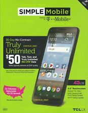 "New Simple Mobile T-mobile LG Rebel 4 5.0"" 4G LTE 16GB 8MP Prepaid Smartphone"