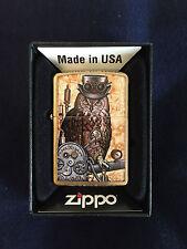 ZIPPO Lighter / Feuerzeug, Modell: Cyberpunk Owl,  Made in USA
