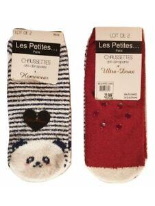 Lot 2 paires de chaussettes Antidérapant d'hiver chaude ultra doux