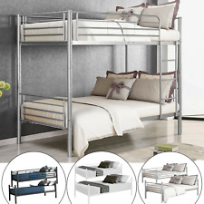 Metal Bunk Beds Frame Twin Over Twin Size Ladder Bedroom Home Office Furniture