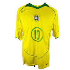 Mens Authentic Nike Team Brazil National Soccer Team Ronaldinho Jersey Drifit Xl