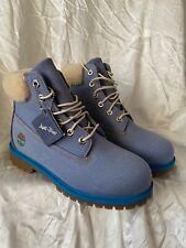 "Timberland Just Don 6"" Blue Denim Junior's Boots TB0A1UXT fabric jeans sz US 6.5"