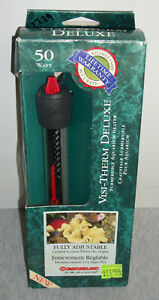 Marineland  ~ Visi-Therm Deluxe ~ 50 Watt Submersible Aquarium Heater ~ New