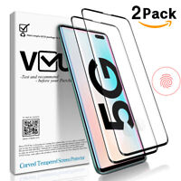 For Galaxy S10 5G Curved Tempered Glass Screen Protector Support unlock function