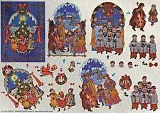 Dufex Christmas Carolers Decoupage Sheet