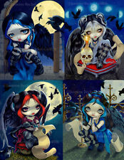.Gothic Poe Set of FIVE 8x10 art prints by Jasmine Becket-Griffith SIGNED