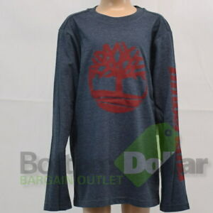 Timberland Boy's Long Sleeve Signature Logo Shirt