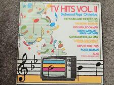 TV HITS VOL II (1977 Vinyl LP BIRCHWOOD POPS) Bionic Woman, Mary Harman, Alice