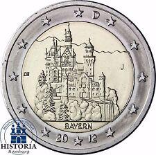 SERRATURA neuschwans Tein 2 Euro Germania 2012 Banca freschi Baviera MZZ J