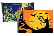 3x5 Happy Halloween 2 Pack Flag Wholesale Set Combo #8 3'x5' Banner Grommets
