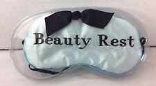 Mud Pie Embroidered Blue Satin Eye Sleep Mask Bridal Shower / Stocking Stuffer