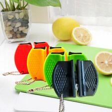 Portable Ceramic Rod Tungsten Steel Camp Pocket Home Kitchen Knife Sharpener 1X