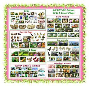 MINIATURE animals birds insects garden bugs - fairy garden dollhouse mini farm