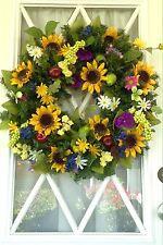 Sunflower Wreath, Yellow Wreaths, Spring Wreath, Summer Wreath, Easter Wreath,