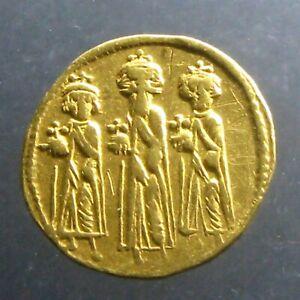HERACLIUS GOLD SOLIDUS_______Constantinople Mint_______LED REVOLT AGAINST PHOCAS