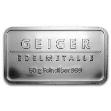 50 gram Silver Geiger Security Line Bar - Prooflike Silver - SKU #78125