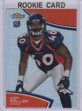 VON MILLER REFRACTOR $$ ROOKIE CARD Topps Finest 2011 DENVER BRONCOS Football RC