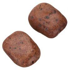 Ceramic Rectangular Red Orange Large Pebble Beads 30mm Pack of 2 (B73/1)