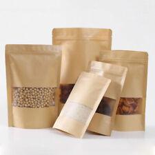 10Pcs Kraft Paper Food Bag Heat Seal Storage Pouches Snack Zip Lock Packaging
