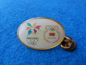 Olympic 1998 Nagano Belarus NOC Pin Badge