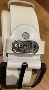 Levi's Mens Dress Belt White With Bonus Lady White Belt Brand New