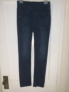 Spanx Denim Signature Straight High Rise Straight Leg Stretch Jeans Sz 27. b201