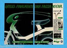 TOP990-PUBBLICITA'/ADVERTISING-1990- PIAGGIO - GRILLO 50 cc -2 fogli