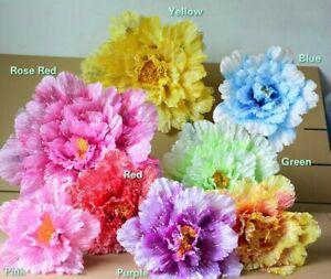 1X Big Silk Flower Artificial Fake Peony Dance Wedding Party Festival Decor New
