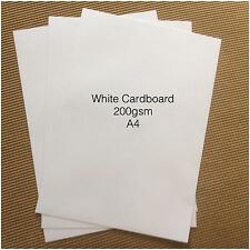 20 X A4 WHITE CARDBOARD 200 GSM QUALITY WHITE