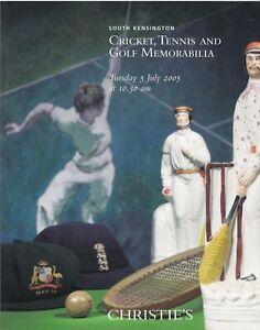 CHRISTIE'S Auction catalogue, 5 July 2005. Cricket, Tennis and Golf Memorabilia