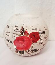 Teelichthalter Blumen Dekor / Kerzenhalter rund Deko Rose Geschenk