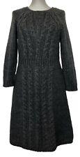 TIBI CABLE KNIT GRAY DRESS, M, $495