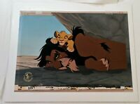 Walt Disney Animation LION KING SCAR SIMBA HAND PAINTED LE CEL #44/175