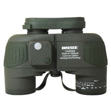 Waterproof 7X50 Tactical Marine Binoculars with Compass & Reticle F Hunting
