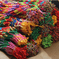 10x in Set Wholesale Bulk Lots Colorful Braid Friendship Cords Strands Bracelets