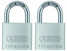 Abus 64Ti/30 2-Pack C Ka Titalium Aluminum Alloy Keyed Alike Padlock Set of 2, 1