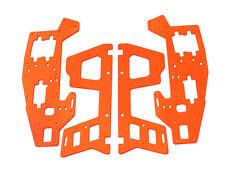 Fusuno New Painted Neon Orange Fiberglass Frame Set - Trex 450 Sport