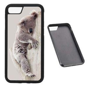 Sleepy Koala RUBBER phone case fits iPhone