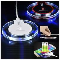 Fast Wireless Charger Qi Charging Pad For Samsung Galaxy iPhone XS Max Xr X S10