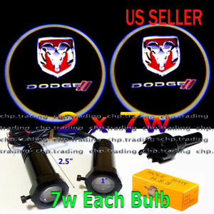 New Dodge 2x7w Ghost Shadow Laser Projector Logo LED Light Courtesy Door Step