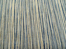 MAGNOLIA HOME LAUREL BAY COVE BLUE GRAY STRIPE UPHOLSTERY FABRIC 1 YD $7.99 651F