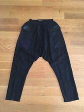 DAMIR DOMA Mens Black Cotton Drop Crotch Pants Trousers IT 46 US Small $729