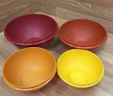 Vintage Tupperware 4 bowl Autumn Harvest Nesting Bowl Set 234 235 236 237 No Lid